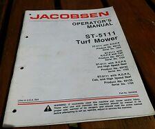 Jacobsen ST5111 Turf Mower operators manual