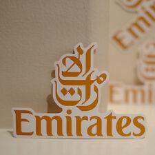 "#4095 Emirates Dubai UAE Airlines Flight Airplane Luggage Label 3"" Decal STICKER"