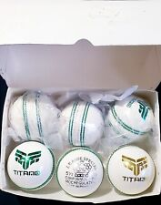 Titano Cricket Leather 6 Hard Balls 5.5 oz T20 World Cup top quality White balls