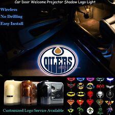 2x Wireless Car Door Projector Edmonton Oilers Logo Ghost Shadow CREE LED Lights