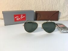 RAY BAN Aviator Men's  Gold/G15 58mm Green Lens Metal Frame 100% UV Sunglasses