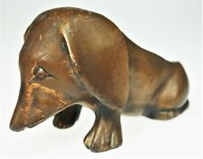 Pipe Stand Holder Metal Bronzed Copper Basset Hound Spaniel Dachshund Dog Art De