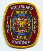 Richmond Fire Department Patch Virginia VA