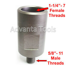"""Core Drill Bit Adapter: 5/8""""-11 Threaded Male to 1-1/4"""" - 7 Female"""