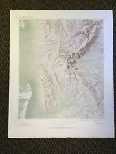 Vintage USGS Guadalupe Peak Texas 1933 Topographic Relief Map