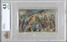 1910 Milka ALFRED NOBEL BVG 4.5 Vintage Trade Card NOBEL PEACE PRIZE