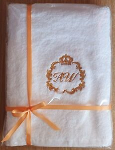 Monogram Initials Personalised Embroidered towels Gift Christmas Birthday presen