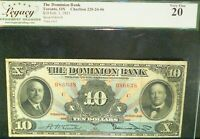 1931 $10 the dominion bank ,CANADA CHARTERED BANKNOTE    CHARLTON #220-24-06