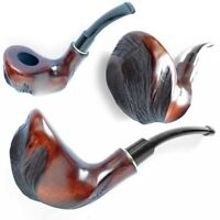 WOODEN PIPE - ART Tobacco Smoking Pipes Handmade Unsmoked - pear wood