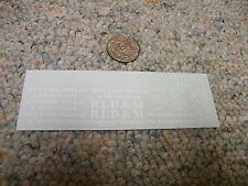 Herald King decals HO Rice Lake Dallas and Menomonie 3'x3.25' heralds white XX76