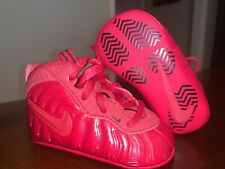 Baby Nike Lil Posite Pro Foamposite Soft Bottom Crib Shoes - Gym Red - Size 3C