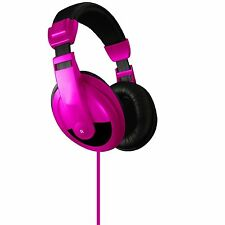 Headphones Headband Adjustable Headset Beats Soft Ear Cushions Pink VS-750-DJ