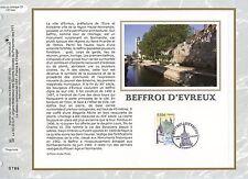 FEUILLET CEF / DOCUMENT PHILATELIQUE / BEFFROPI D'EVREUX 2008 EVREUX