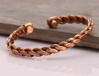 Copper Adjustable Bracelet Cuff Wristlet Wrist Band Luck - Men Women