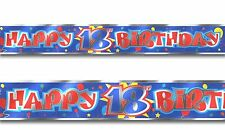 12ft Happy 18th Birthday Party Foil Banner Decoration blue red print