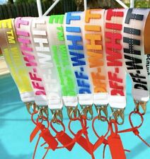 Off White Industrial Clear Transparent Keychain / Keyring PVC Lanyard Zip Tag