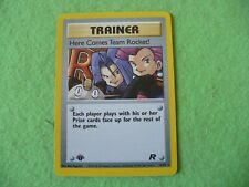 """pokemon trainer/""""here comes team rocket"""" white star promo rocket card new and mi"""