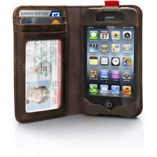 Genuine Twelve South BookBook Brown Wallet Case Leather Book F Apple iPhone 4 4s