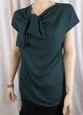 Gucci Green Short Sleeve Knot Top Sz. Medium NWT $995