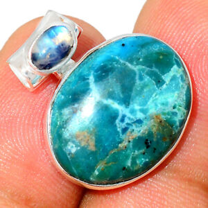 Peruvian Opal & Moonstone 925 Sterling Silver Pendant Jewelry BP65421