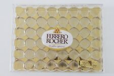 "EMPTY FERRERO ROCHER CHOCOLATE SQUARE PLASTIC BOX 11.5"" Largest Size"