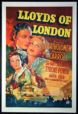 LLOYD'S OF LONDON TYRONE POWER STONE LITHO 1936 1 SHEET