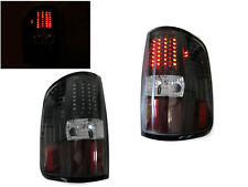 DEPO Black Rear LED Tail Lights For 2004-2008 Ford F150 F-150 Styleside Truck