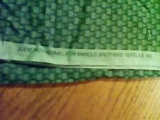 """1 3/4  Yards Cotton Gingham 1/4""""  Checked Fabric 2 tone green Marcus Brothers"""