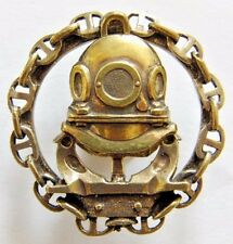 Navy Diver Russian Spetsnaz Military Badge Brass Screwback 4cm Diameter