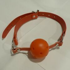 PV Leather  RED BALL GAG  GB-41-RED,FREE  UK DELIVERY