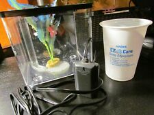 Marina EZ Care Betta Fish Kit with Heater Lot, Black - Tested Cleaned, Very Good