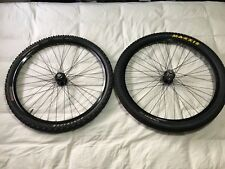 "Chris King ISO disc 100/135mm QR black hubs Mavic XM719 26"" wheels/wheelset 26er"