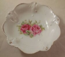 Vintage RS Prussia Scalloped Edge Pink Flowered Roses Bowl Lot of 5