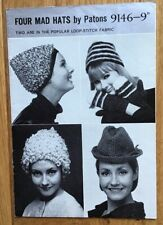 Vintage Patons Knitting Pattern For Ladies Hats