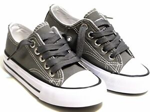 New Lace Up Low Top Youth Kids Boy Girl Canvas Shoes Walking Comfort 8 Colors
