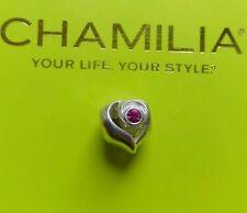 Autentico Chamilia 925 Ltd Edition 2012 Rosa Zirconi Cubici Ciondolo Cuore Bracciale