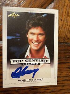 2016 LEAF Pop Century Autograph David hasselhoff Card Sp BA-DH2