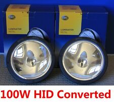 HELLA RALLYE 4000 LUMINATOR METAL Pencil Beam Converted 100W HID Driving Lights