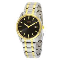 Citizen Eco-Drive Mens Bracelet Black Dial Watch AU1044-58E