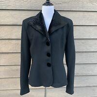 Vintage Christian Dior Black Wool Velvet Blazer 8