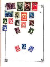 ROMANIA Old Stamps Roumanie vieux timbres sur feuiles d'albums lot 422