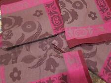 le Jacquard Francais Cotton primrose bordier red purple placemats napkins linens