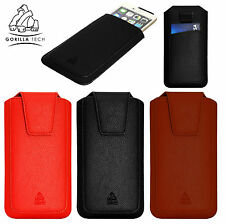 Gorilla Tech Leather Case Pouch Sleeve for Apple iPhone 11 Pro Max XS Samsung LG
