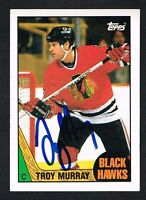 Troy Murray #74 signed autograph auto 1987-88 Topps Hockey Trading Card