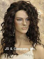Human Hair Blend Long Wavy Dark Brown Flat iron Safe Wig sfa 4