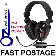 Gaming Headset for PS3 XBox 360 MAC PC game & chat sound 2.1 EXTRA BASS Stereo