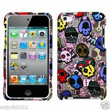 Apple iPod Touch 4 Snap-On Hard Case Cover Accessory Skull Party