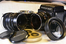 Mamiya RB67 Pro Medium Format Film Camera + 127mm and 150mm lens, 82mm Extension