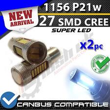 * 2x 1156 BA15S P21W Xenón 27 LED SMD CANBUS DRL BLANCO 7014 libre de errores inversa