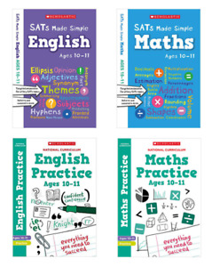 Scholastic SATs Practice & Revision 4 Book Pack, KS2 Year 6 Ages 10-11